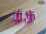 Precision Dice - Fuschia Pink - 9/16 in. - 1 pair (2 die) - Item: 1187