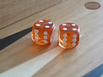 Precision Dice - Golden Amber - 9/16 in. - 1 pair (2 die) - Item: 1191