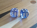 Precision Dice - Lavender Blue - 9/16 in. - 1 pair (2 die) - Item: 1175