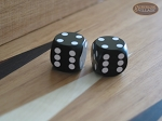 Precision Dice - Opaque Black - 5/8 in. - 1 pair (2 die) - Item: 1196