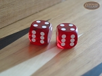 Precision Dice - Ruby Red - 9/16 in. - 1 pair (2 die) - Item: 1167