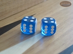 Precision Dice - Sapphire Blue - 9/16 in. - 1 pair (2 die) - Item: 1171