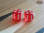 Precision Dice - Tangerine Red - 5/8 in. - 1 pair (2 die) - Item: 1184