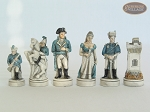 The Napoleon Chessmen with Spanish Mosaic Chess Board
