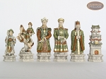 picture of Luxury Oriental Chessmen with Large Spanish Lacquered Chess Board [Grey] (7 of 8)