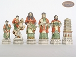 picture of Luxury Oriental Chessmen with Large Spanish Lacquered Chess Board [Grey] (8 of 8)