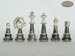 picture of The Grand Chessmen with Large Spanish Lacquered Chess Board [Grey] (7 of 8)