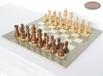 picture of Royal Rosewood and Maple Staunton Chessmen with Large Spanish Lacquered Chess Board [Grey] (2 of 7)
