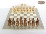 picture of Royal Rosewood and Maple Staunton Chessmen with Large Spanish Lacquered Chess Board [Grey] (3 of 7)
