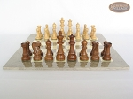 picture of Royal Rosewood and Maple Staunton Chessmen with Large Spanish Lacquered Chess Board [Grey] (4 of 7)