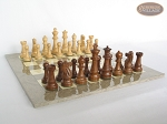 picture of Royal Rosewood and Maple Staunton Chessmen with Large Spanish Lacquered Chess Board [Grey] (5 of 7)