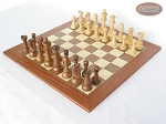 picture of Royal Rosewood and Maple Staunton Chessmen with Spanish Traditional Chess Board [Extra Large] (2 of 7)