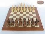 picture of Royal Rosewood and Maple Staunton Chessmen with Spanish Traditional Chess Board [Extra Large] (3 of 7)