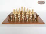 picture of Royal Rosewood and Maple Staunton Chessmen with Spanish Traditional Chess Board [Extra Large] (4 of 7)