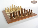 picture of Royal Rosewood and Maple Staunton Chessmen with Spanish Traditional Chess Board [Extra Large] (5 of 7)