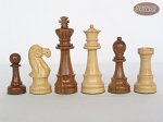 picture of Royal Rosewood and Maple Staunton Chessmen with Italian Lacquered Board [Black] (7 of 7)