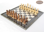 picture of Royal Rosewood and Maple Staunton Chessmen with Italian Lacquered Board [Black] (2 of 7)
