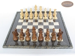 picture of Royal Rosewood and Maple Staunton Chessmen with Italian Lacquered Board [Black] (3 of 7)