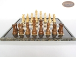 Royal Rosewood and Maple Staunton Chessmen with Italian Lacquered Board [Black]