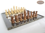 picture of Royal Rosewood and Maple Staunton Chessmen with Italian Lacquered Board [Black] (5 of 7)