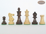 Mini Classic Staunton Rosewood and Maple Chessmen with Patterned Italian Leatherette Chess Board with Storage [Brown]