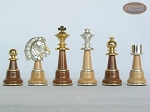 picture of The Grand Chessmen II with Large Spanish Lacquered Chess Board [Grey] (7 of 7)