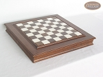picture of Red and Black Maple Staunton Chessmen with Italian Alabaster Chess Board with Storage (6 of 7)