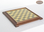 picture of Red and Black Maple Staunton Chessmen with Italian Brass Chess Board [Raised] (5 of 6)