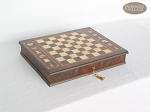 picture of Italian Brass/Silver Staunton Chessmen with Italian Chess Board with Storage (6 of 7)