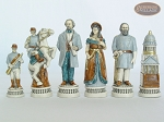 picture of Confederate vs. Union Chessmen with Large Spanish Lacquered Chess Board [Grey] (7 of 8)