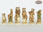 picture of Jungle Life Chessmen with Large Spanish Lacquered Chess Board [Grey] (7 of 8)