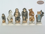 picture of Jungle Life Chessmen with Large Spanish Lacquered Chess Board [Grey] (8 of 8)