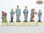 American Civil War Chessmen with Italian Lacquered Chess Board [Wood]