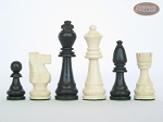 picture of Contemporary Staunton Chessmen with Patterned Italian Leatherette Board with Storage [Brown] (7 of 7)
