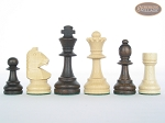 picture of Executive Staunton Chessmen with Patterned Italian Leatherette Chess Board (6 of 6)