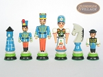 picture of Hungarian Szur Chessmen with Italian Lacquered Chess Board [Green] (6 of 7)