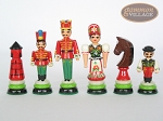 picture of Hungarian Szur Chessmen with Italian Lacquered Chess Board [Red] (7 of 7)