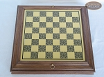 picture of Red and Black Maple Staunton Chessmen with Italian Brass Chess Board with Storage (5 of 7)