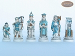 picture of Egyptian Chessmen with Italian Lacquered Chess Board [Green] (7 of 8)