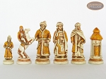 picture of The Battle of Kazan Chessmen with Large Spanish Lacquered Chess Board [Grey] (6 of 6)