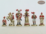 picture of Magnificent Chessmen with Italian Lacquered Chess Board [Red] (8 of 8)