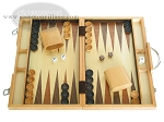 15-inch Wood Backgammon Set - Oak - Item: 1666