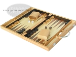 picture of 15-inch Wood Backgammon Set - Oak (3 of 11)