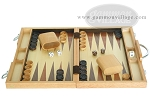 picture of 15-inch Wood Backgammon Set - Oak (4 of 11)