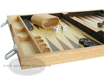 picture of 15-inch Wood Backgammon Set - Oak (5 of 11)