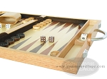 picture of 15-inch Wood Backgammon Set - Oak (6 of 11)