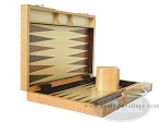 picture of 15-inch Wood Backgammon Set - Oak (7 of 11)