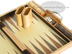 picture of 15-inch Wood Backgammon Set - Oak (8 of 11)