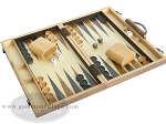 picture of 15-inch Wood Backgammon Set - Burlwood (2 of 11)