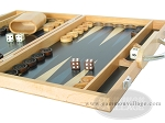 picture of 15-inch Wood Backgammon Set - Beechwood (Blue) (6 of 11)
